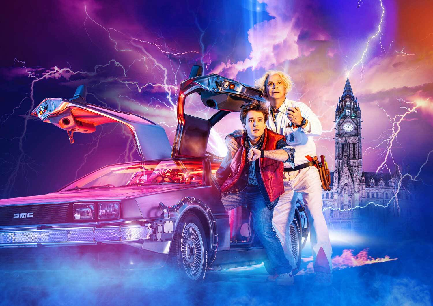 Back To The Future Musical Show Artwork Mobile Banner